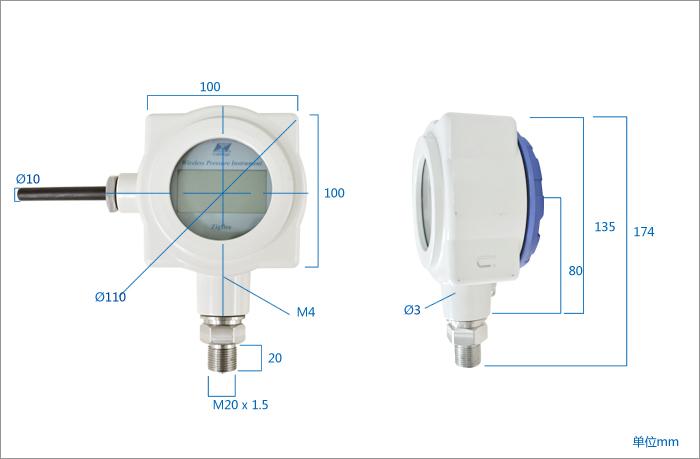 昆仑海岸jyb-kb-cw2000无线压力传感器,变送器
